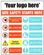 Site Safety Sign (Your logo here)